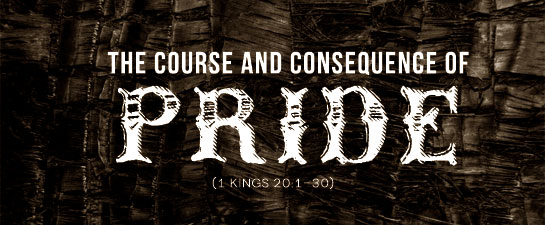 the consequence of pride The destructive consequences of pride is a sermon outline preached by kevin cauley to the new boston church of christ in new boston, texas.