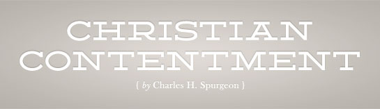 Christian Contentment