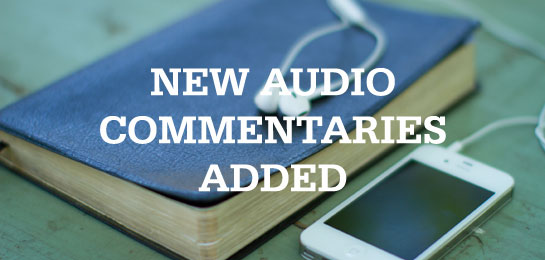 "new content added to ""audio commentaries"""